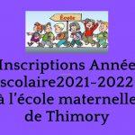 Inscriptions école de Thimory